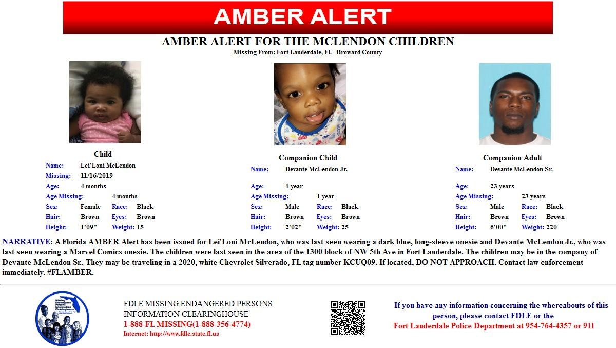 Update Amber Alert Canceled For 2 Children In Broward County