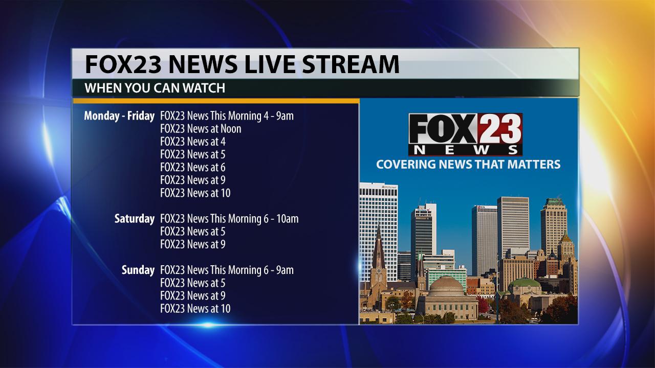 FOX23 News live stream schedule